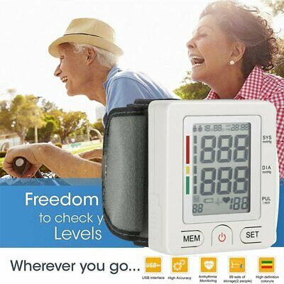 Digital Blood Pressure Monitor Large Automatic BP Cuff Gauge Machine Meter FA