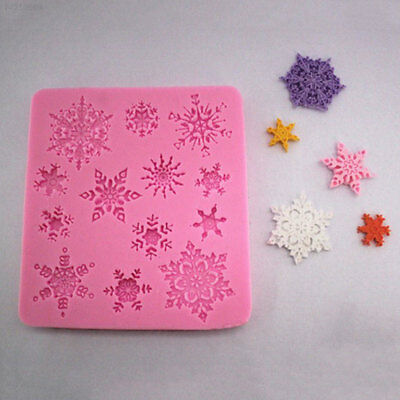 BCAC DIY Christmas Snowflake Fondant Cake Mold Silicone Chocolate Baking Mould