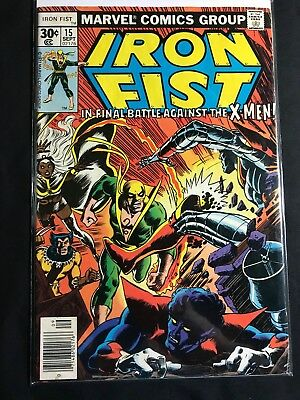 IRON FIST #15 (MARVEL 1977) 1st BUSHMASTER LAST ISSUE VG/F
