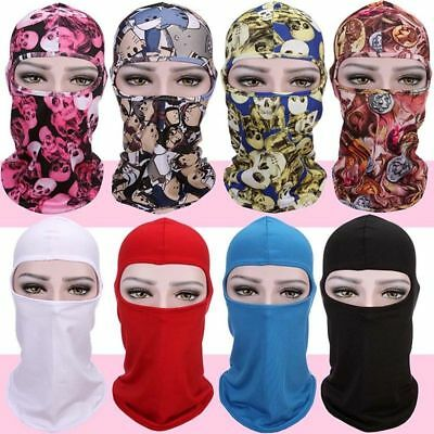 Motorcycle Full Face Mask Lycra Balaclava Ski Sun Novelty  Neck Outdoor