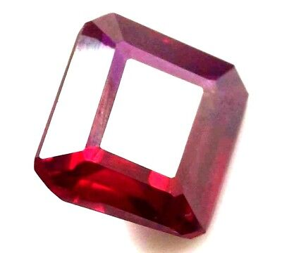 GGL Certified Natural Red Ruby 9.35 Ct Emerald Cut Mozambique Gem New Year Offer