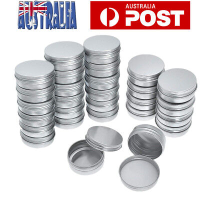 10pcs 30ML Aluminum Cosmetic Tin Pot Lip Balm Jar Container Oil Wax Empty Jar AU