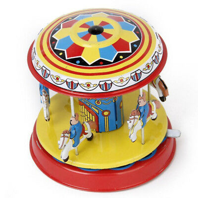 Retro Zinn Toy Fairground Merry Go Round Modell Bar Requisiten Hohe Qualität