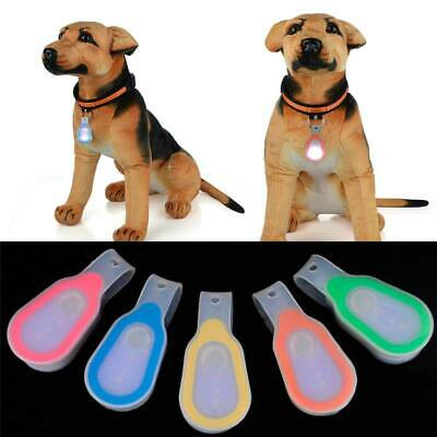 Pet Dog LED Clip-On Lights Night Super Bright Safety Magnetic Collars Waterproof