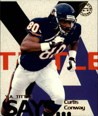 1997 Fleer Goudey Tittle Says Chicago Bears Football Card #6 Curtis Conway