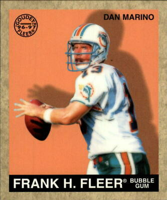 1997 Fleer Goudey Football Card #41 Dan Marino