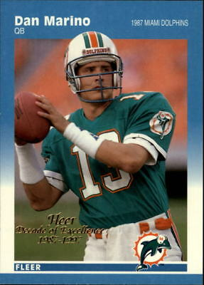 1997 Fleer Decade of Excellence Miami Dolphins Football Card #6 Dan Marino