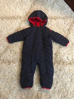 NEW  Snozu Baby Boy / Girl quilted Snowsuit - Blue - 9-12 Mo