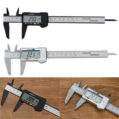 6'' 150mm LCD Electronic Digital Vernier Caliper Micrometer Guage for Automotive