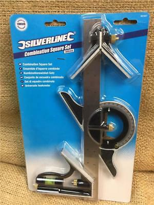 """Clearance Line 991857 Combination Square 12"""" Stainless Steel Rule Center Finder"""