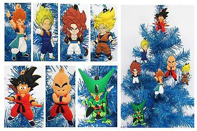 Unique Dragon Ball Z Holiday Christmas Ornament Set w Cell, Goku, Vegeta, & More