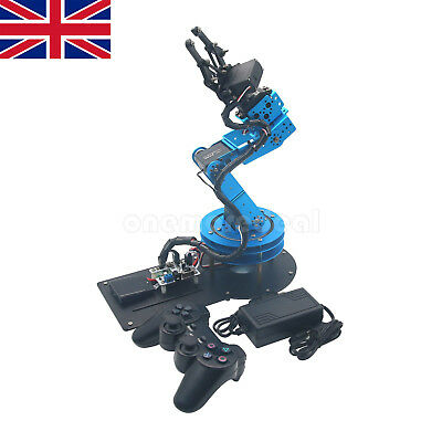 Unassembled 6DOF Mechnical Robotic Arm with 6pc Servo+ PS2 Handle Control UK