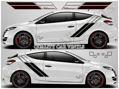 Renault Megane Trophy RS Sport Racing Side Stripes Decal Graphics Stickers RS100