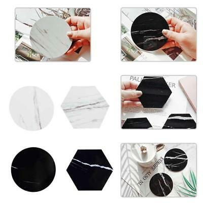 Chic Marble Pattern Coaster Coffee Cup Mat Tea Pad Dining Hard Table Decoration