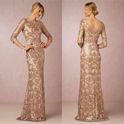 Sequin Long Evening Prom Dress Formal Party Ball Gown Bridesmaid Mermaid 634
