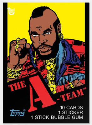2018 Topps Wrapper Art #35 1983 A-Team Card 80th Anniversary Mr. T  On Hand
