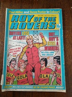 Vintage Roy of the Rovers Comic 3 issues (1980 1981 1982)