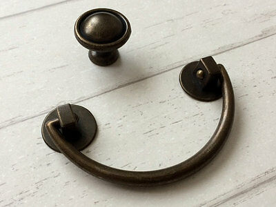 "3"" Drop Handle Bail Drawer Pull Dresser Pulls Cabinet Knob Antique Bronze 76 mm"