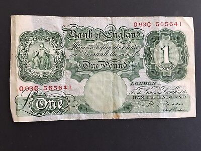 ENGLAND One Pound £1 Banknote