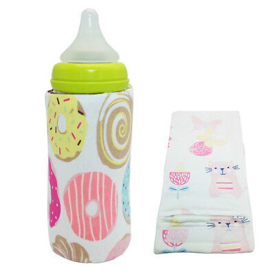 USB Insulation Sleeve Baby Milk Bottle Heated Cover Thermostat Food Heater Cool
