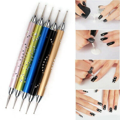 Portable Point Drill Pen Practical Manicure Supplies Convenient Double Head BA