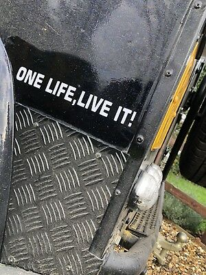 One Life Live It! Car Sticker. Small Decal.