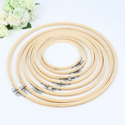 13-33cm Wooden Cross-Stitch Machine Embroidery Hoop Ring Bamboo Sewing