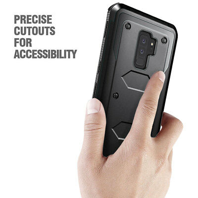 For Samsung Galaxy S9 High Impact Rugged Shockproof Case Cover - Black