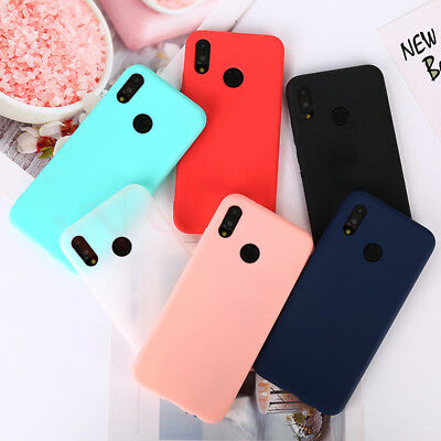 Candy Color Matte Skin Soft TPU Silicone Case Cover For Huawei Mate 20 Lite P20
