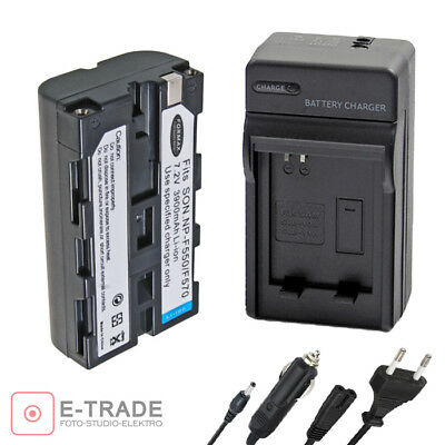 3900mAh NP-F550 Recharg. Li-ion Battery / CHARGER for Sony NP-F750 NP-F330 F53