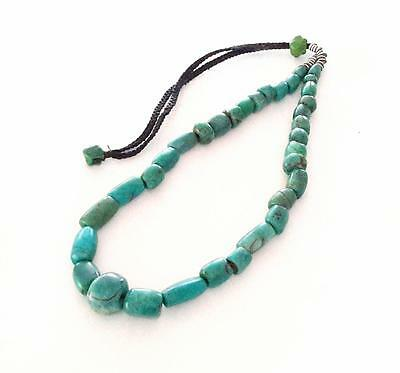 Ancient strand of Amazonite Stone Beads 87gr Mauritania African Trade