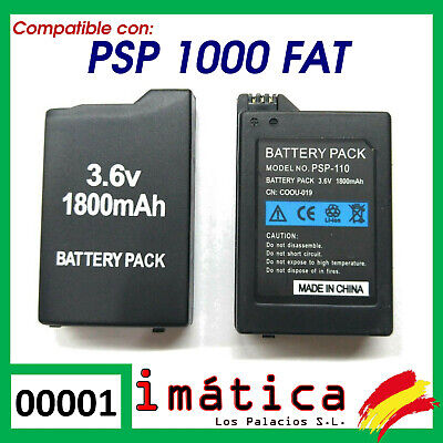 BATERIA COMPATIBLE PARA PSP 1000 1004 FAT GORDA 1800 mAh BATTERY 1001 1002 1003