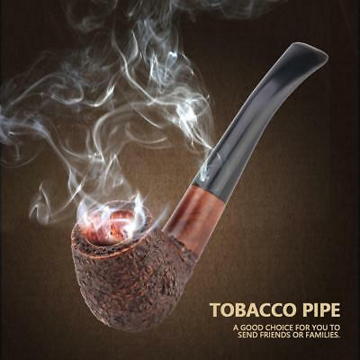 Durable Wooden Enchase Smoking Pipe Tobacco Cigarettes Cigar Filter Pipes w/ Bag