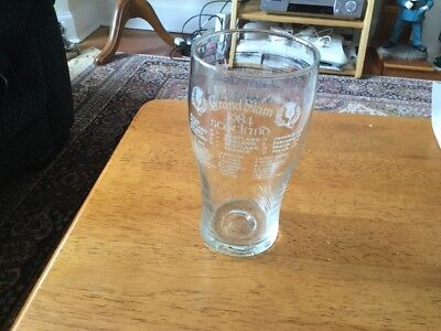 SCOTTISH RUGBY  GRAND SLAM 1984 PInt Beer Glass
