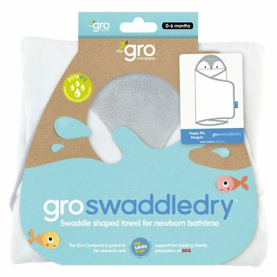 Poppy the Penguin Grobath Groswaddledry by The Gro Company Microfiber Baby Towel