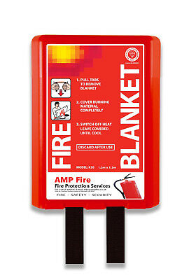 Fire Blanket - Meets UK Fire Regs - FREE DELIVERY - 10 Year Guarantee