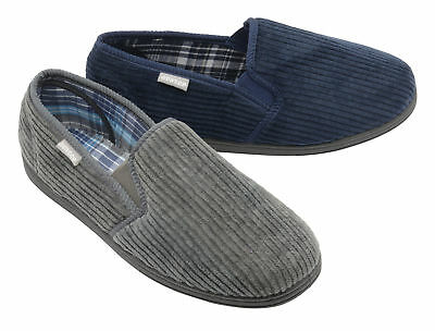 Dunlop Mens Slippers Slip On Twin Gusset Rubber Sole Machine Washable Size 7-12