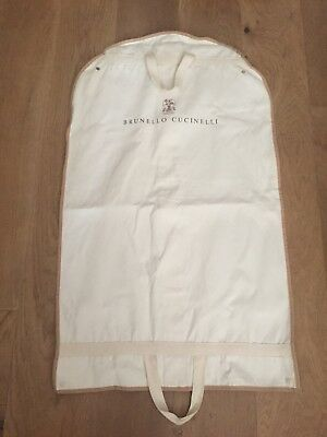 BRUNELLO CUCINELLI Cream Cotton Garment Protector zip bag  150x60cm Long