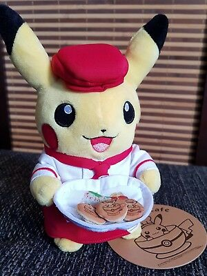 Pokemon Cafe Tokyo Pikachu Cute Kellnerin Plüsch Puppe Center Limited Edition