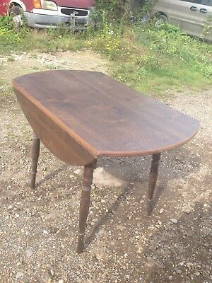 Flap Down Small Round Table