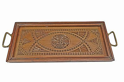 Antique Frisian Chip Carved Serving Tray, Dutch.
