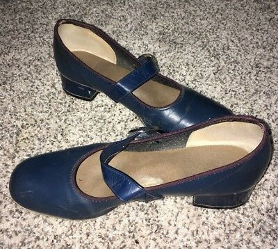 Square dance shoes 6 1/2 Women Blue Vintage Marked Promenaders