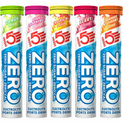 High 5 Zero Electrolyte Hydration Tabs x 3 Tubes 60 Tabs High5 Energy Tablets