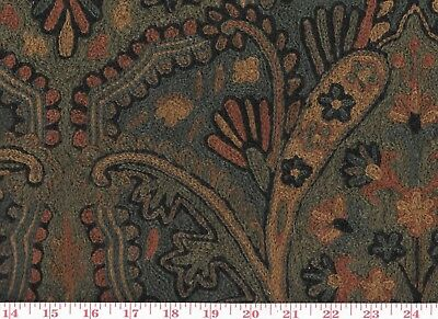 Fabulous Hand Embroidered Roth Tompkins Upholstery Fabric Paisley