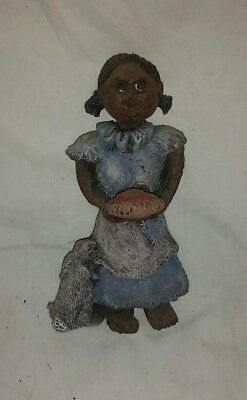 "Black Americana PolyResin Figurine ""Fresh Baked Pie"" 4 1/2"" in Height"