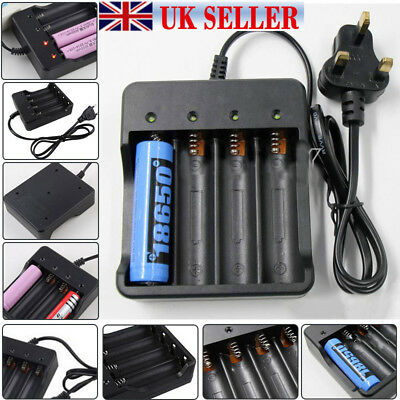 18650 Li-ion Battery Charger Rechargeable 4 Slots for 4x 3.7v 18650 Batteries