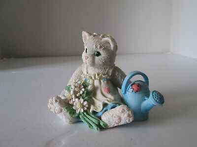 1992 Enesco Calico Kittens Figurine Planting the Seeds of Friendship Cat 2150