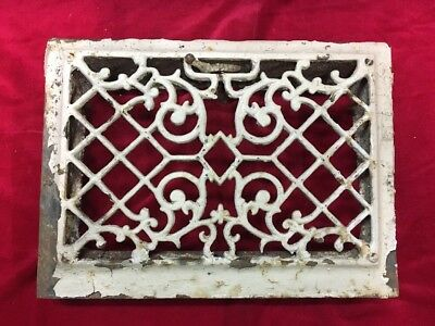 Antique Ornate Cast Iron Metal Floor Wall Register Grate Vent Cover Heating