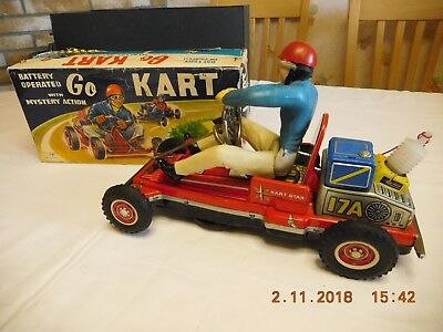 """TN - GO KART -  """" Battery operated with mystery action """" - SEHR SELTEN - OVP"""