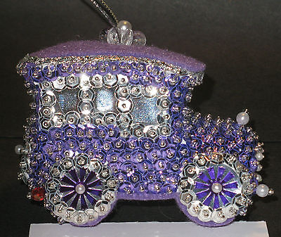 """/""""Passion for Purple/"""" kit makes 1 Ornament Christmas Beads sequins Satin Craft"""